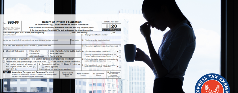 Rejected Form 990-PF