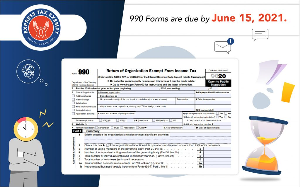 June 15, 2021 Form 990 deadline
